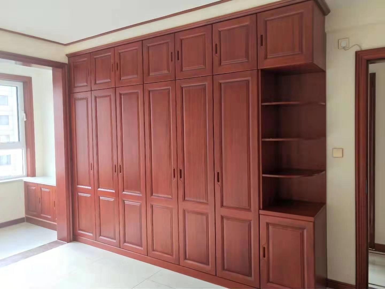 2.8米橡木衣柜 全屋定制 实木衣柜