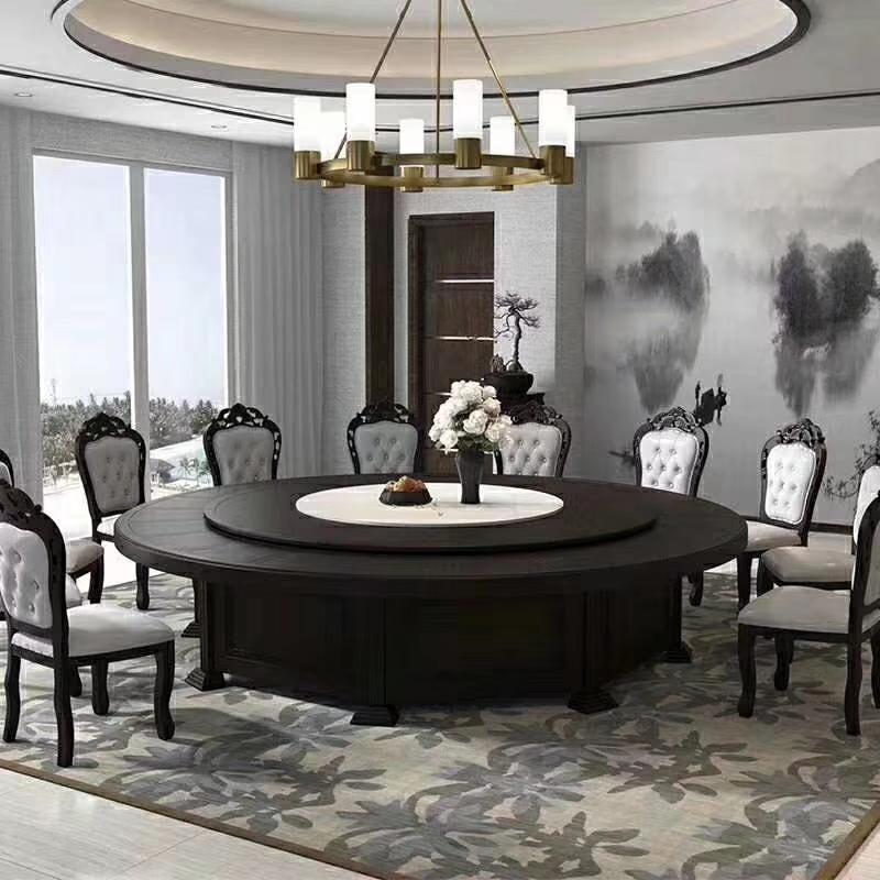2.4米实木圆桌 酒店大圆桌