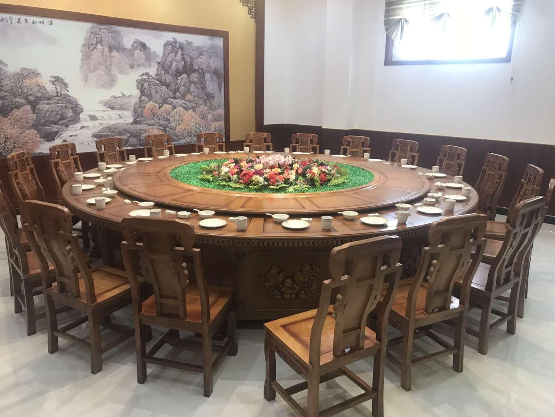 4.6米橡木电动圆桌 酒店圆桌 实木圆桌