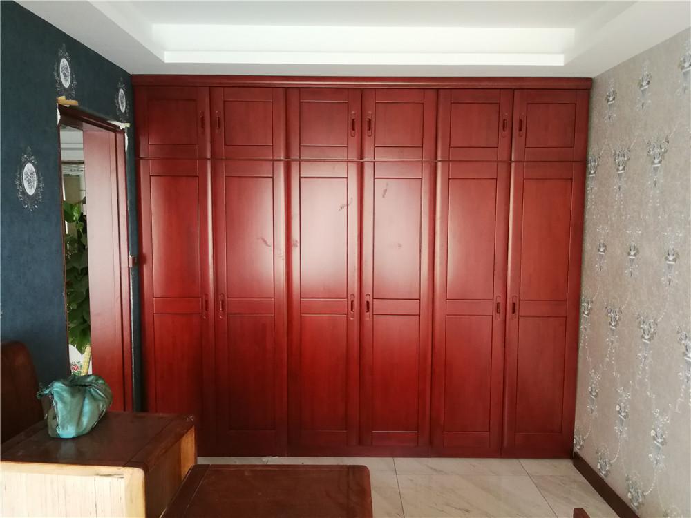 3米实木衣柜 顶箱柜 水曲柳衣柜 实木衣柜