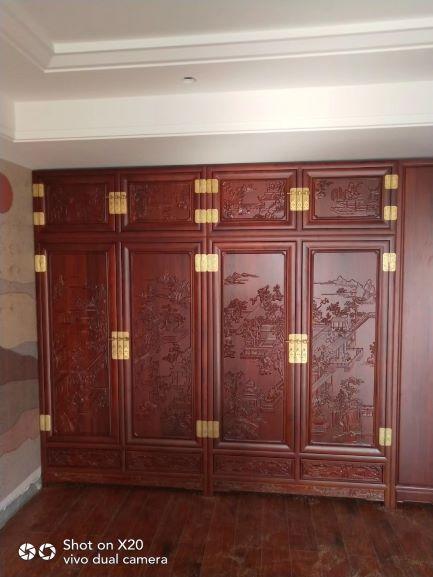 2米楸木衣柜 全屋定制 实木衣柜